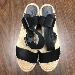 Vince Abby Espadrille Wedge Sandal Size 9